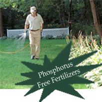 Lawn spray weed control and fertilizer applications.